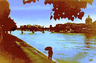 Paris In The Rain Poster