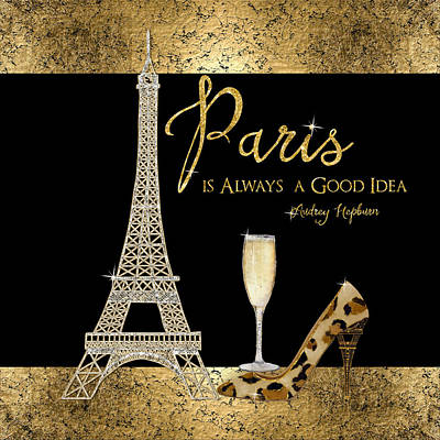 Paris Is Always A Good Idea - Audrey Hepburn Poster by Audrey Jeanne Roberts