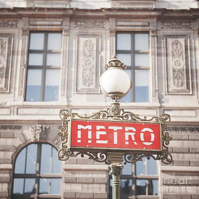 Paris Metro Sign Architecture Poster
