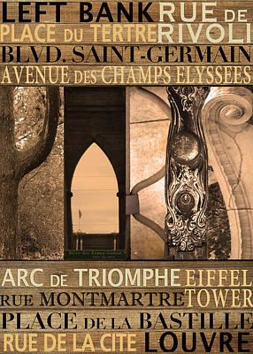 Paris Neighborhoods Poster