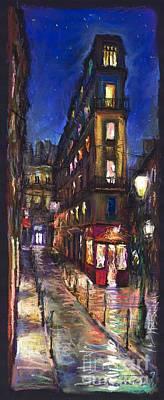 Paris Old Street Poster