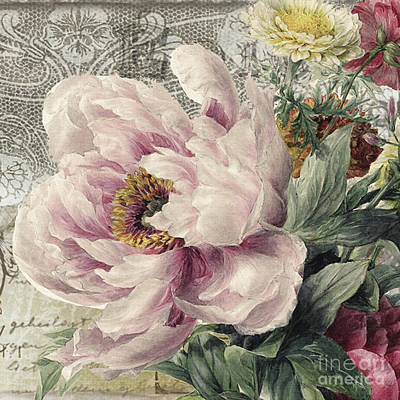 Paris Peony Poster by Mindy Sommers
