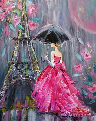 Paris Rain Poster by Jennifer Beaudet