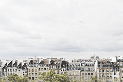 Paris Rooftops View From Centre Pompidou Poster