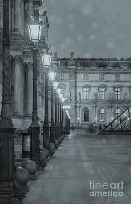 Paris. Louvre At Twilight Poster by Juli Scalzi
