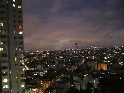 Paris Skyline At Night II France Poster