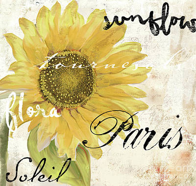 Paris Songs Poster by Mindy Sommers