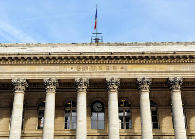 Paris Stock Exchange Poster