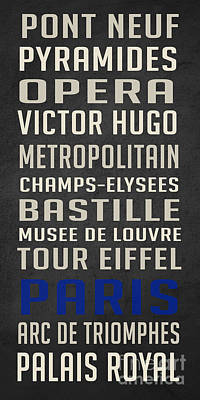 Paris Subway Stations Vintage Poster