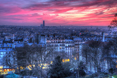 Paris Sunset Poster by Shawn Everhart