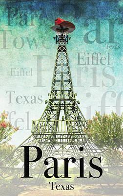 Paris Texas Style Poster