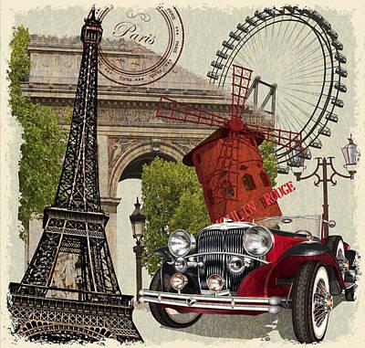 Paris Vintage Poster. Poster