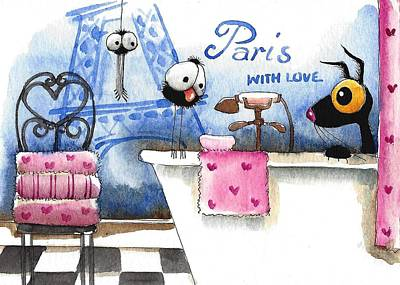 Paris With Love Poster by Lucia Stewart