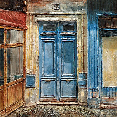 Poster featuring the painting Parisian Door No.36 by Joey Agbayani