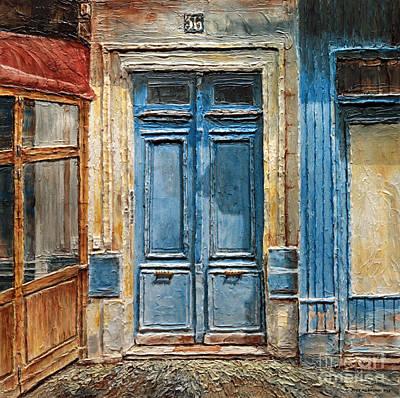 Parisian Door No.36 Poster by Joey Agbayani