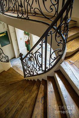 Parisian Staircase Poster by Brian Jannsen