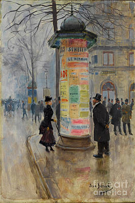 Poster featuring the photograph Parisian Street Scene by John Stephens
