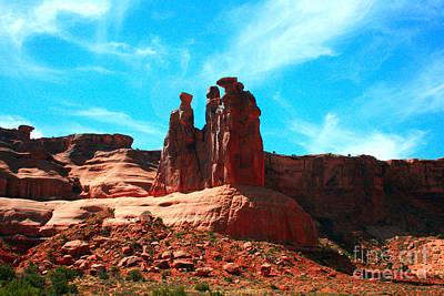 Park Avenue Fantastic Rock Formations Poster