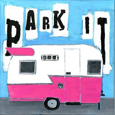 Park It- Pink Poster by Debbie Brown