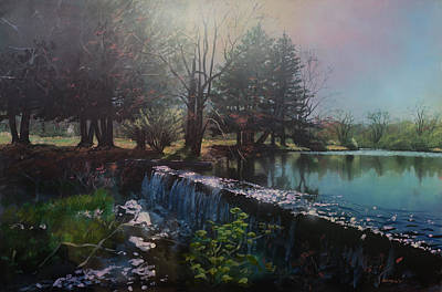 Parker's Pond In North Easton Ma Poster by Bill McEntee