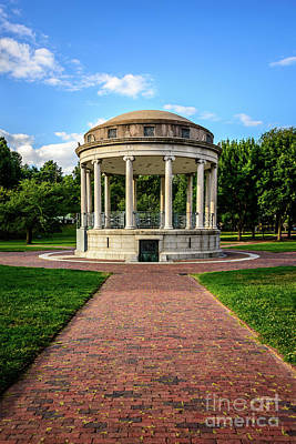 Parkman Bandstand At Boston Common Poster by Paul Velgos