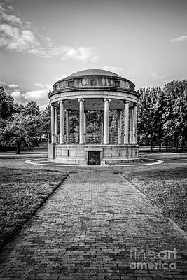 Parkman Bandstand Boston Common Black And White Photo Poster by Paul Velgos