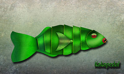 Parrot Fish  The Metal Aquarium  Poster by Richard Shelton