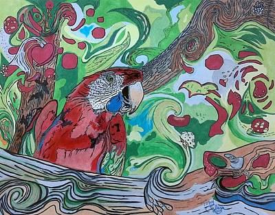 Parrot Kaleidoscope  Poster