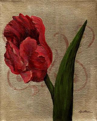 Parrot Tulip I Poster by April Moen