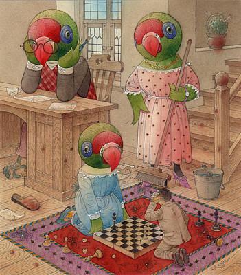 Parrots 06 Poster by Kestutis Kasparavicius