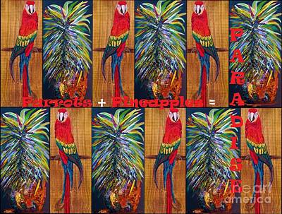 Parrots And Pineapples Poster by Eloise Schneider