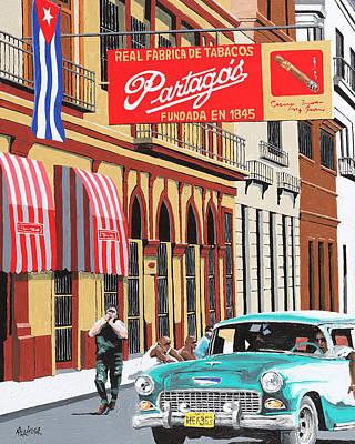 Partagas Cigar Factory Havana Cuba Poster by Miguel G