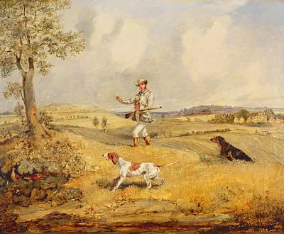 Partridge Shooting  Poster by Henry Thomas Alken