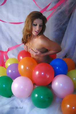 Party Balloon Poster by Donna Blackhall