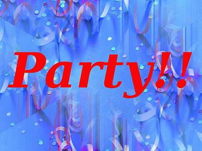Party Poster by Tim Allen