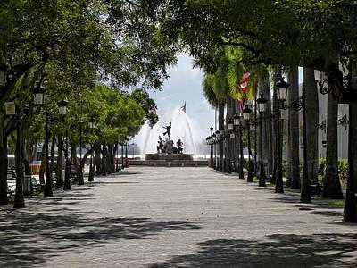 Paseo De La Princesa In San Juan Poster by George Oze