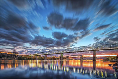 Passing Clouds Above Chattanooga Poster