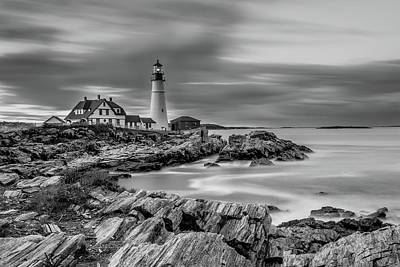 Passing Storm At Portland Head Light Poster