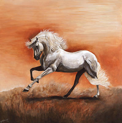 Passion Poster by Paula Collewijn -  The Art of Horses