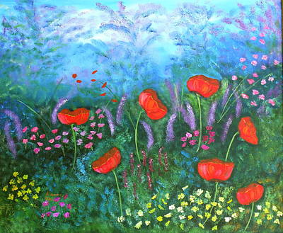 Passionate Poppies Poster by Alanna Hug-McAnnally