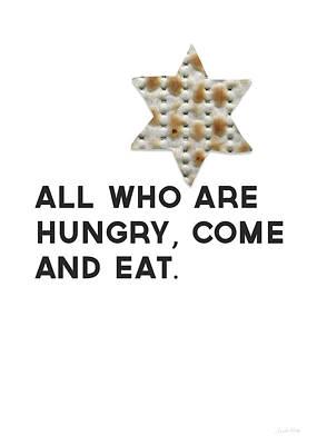 Passover Matzo- Art By Linda Woods Poster