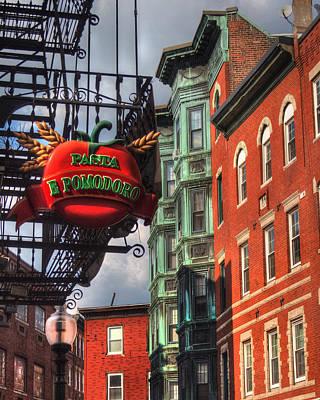 Pasta E Pomodoro - Boston North End Poster by Joann Vitali