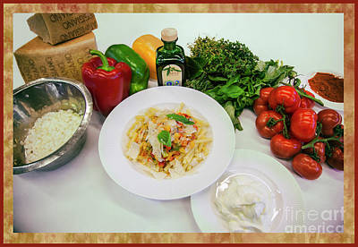 Poster featuring the photograph Pasta Ingredients  by Ariadna De Raadt