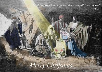 Pastafarian Merry Chrifsmas Scene Poster