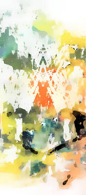 Pastel Abstract Poster by Tom Gowanlock