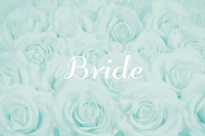 Pastel Aqua Bride Design Poster by Lucid Mood