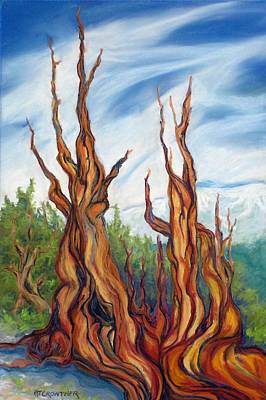 Poster featuring the painting Pastel Bristlecone by Pat Crowther