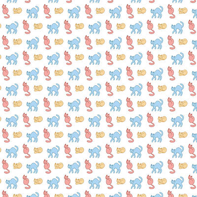 Pastel Cattern Poster by Veronica Kusjen