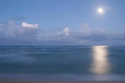 Pastel Moonset Poster