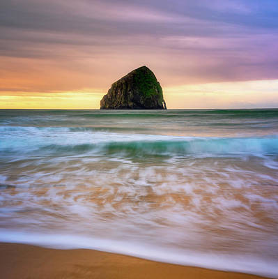 Poster featuring the photograph Pastel Morning At Kiwanda by Darren White